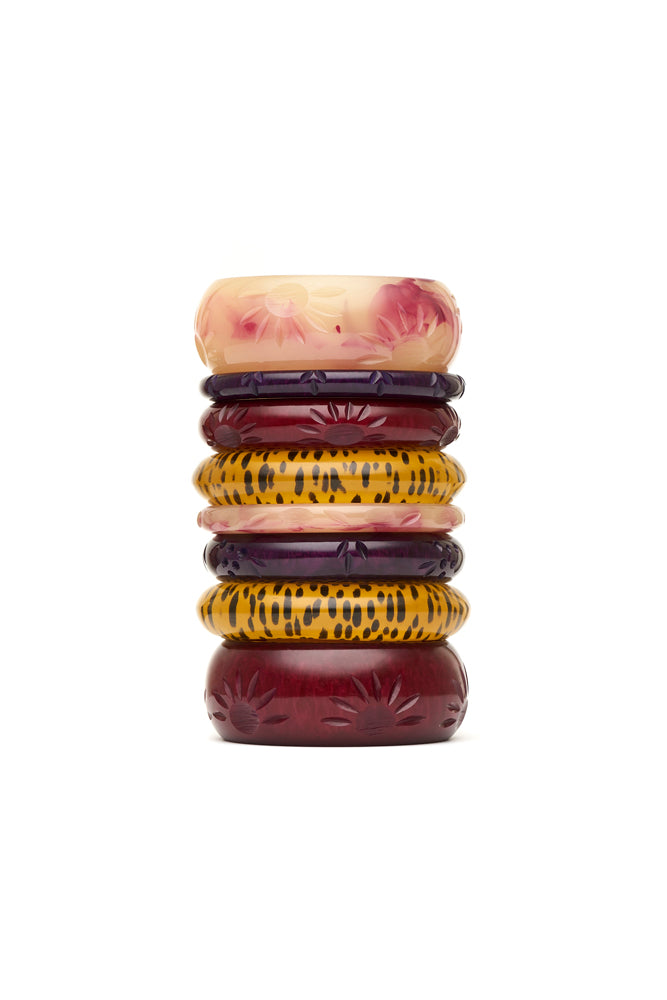 Wide Burgundy Crème Fakelite Bangle