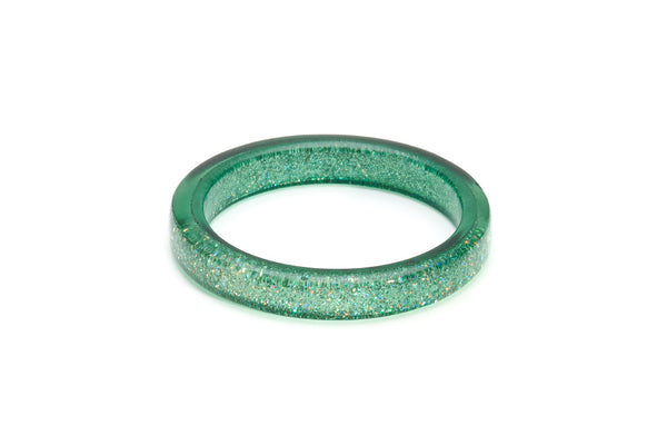 Green Lagoon Glitter Bangle
