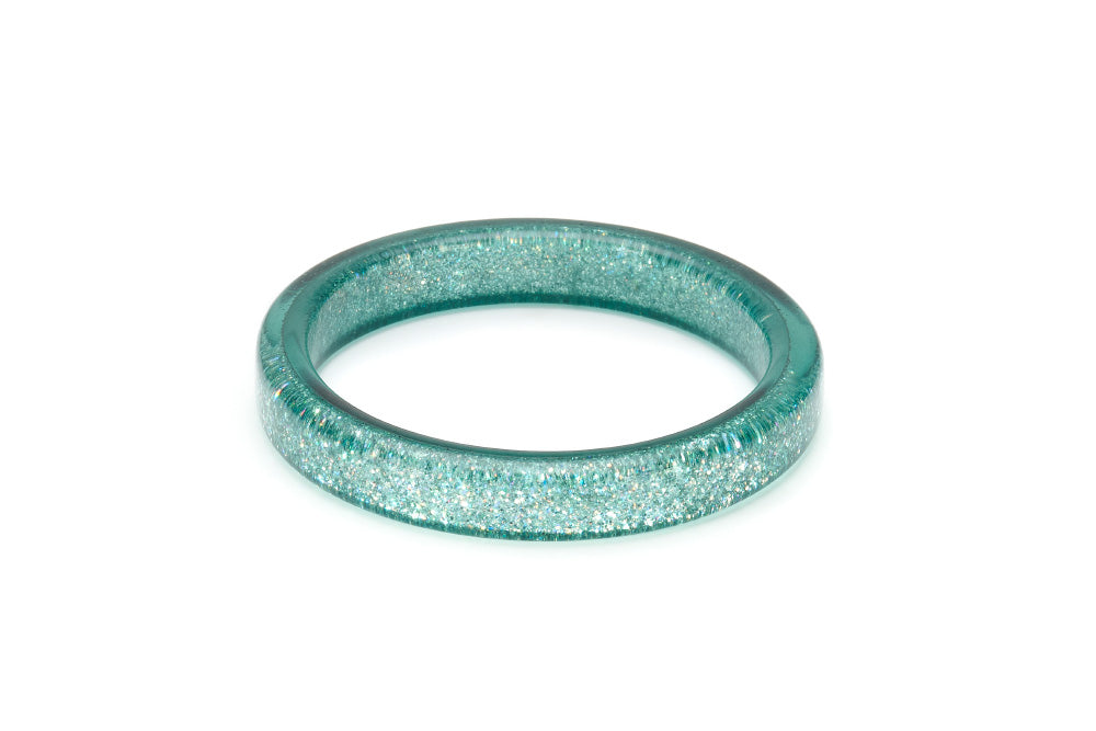 Teal Glitter Duchess Bangle