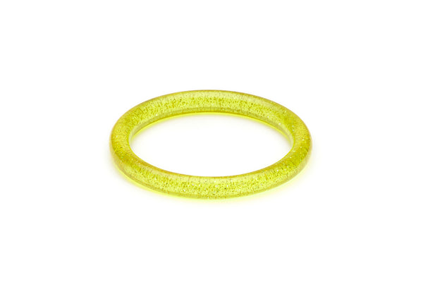 Narrow Chartreuse Glitter Bangle