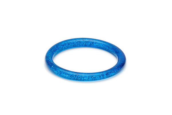 Narrow Blue Glitter Bangle