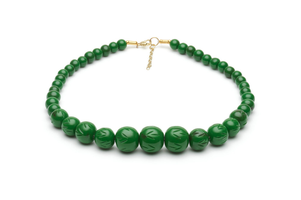 Vintage style bead necklace in fern