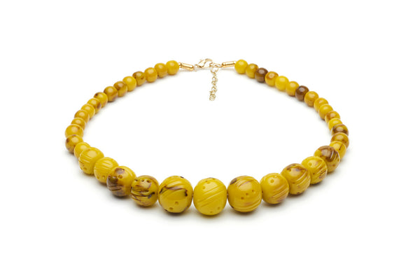 Handmade style bead necklace in catkin