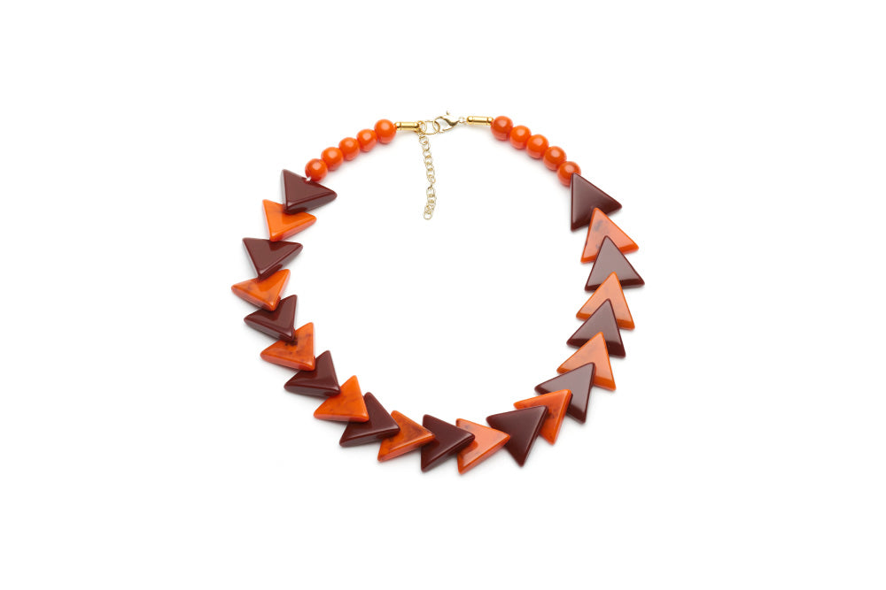 1940s style triangle bead necklace in fox