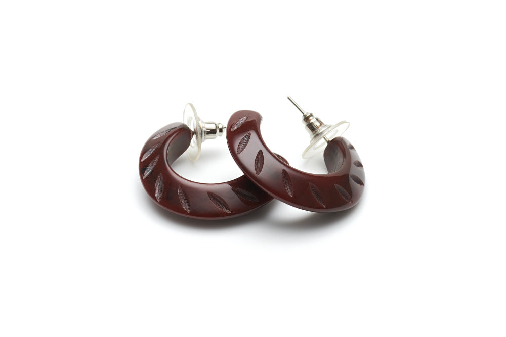 Fakelite hoop earrings in mouse