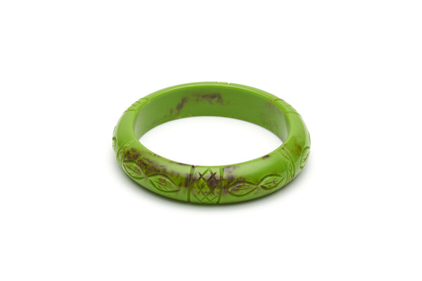 Bakelite style midi bangle in alder green