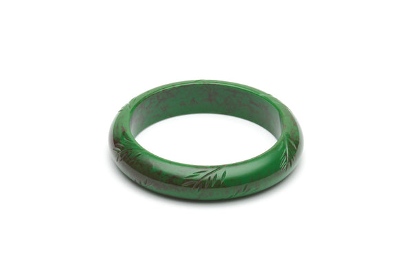 Vintage style midi bangle in fern