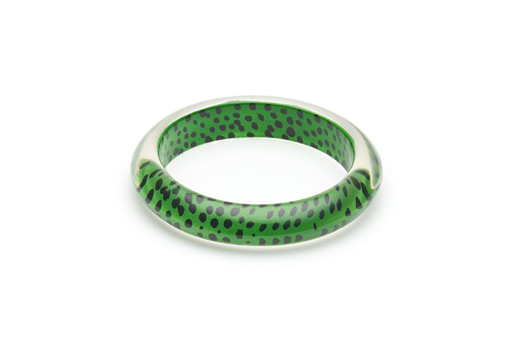 Green Leopard Bangle