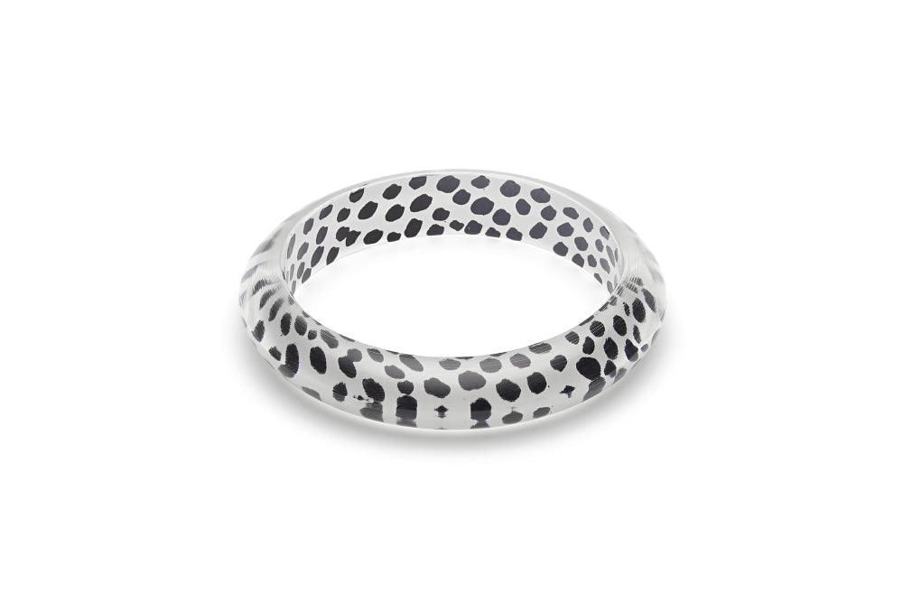 White Leopard Bangle