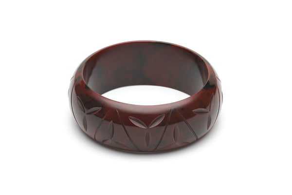 Fakelite wide duchess bangle in mouse