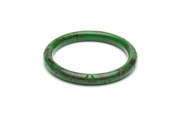Vintage style narrow duchess bangle in fern