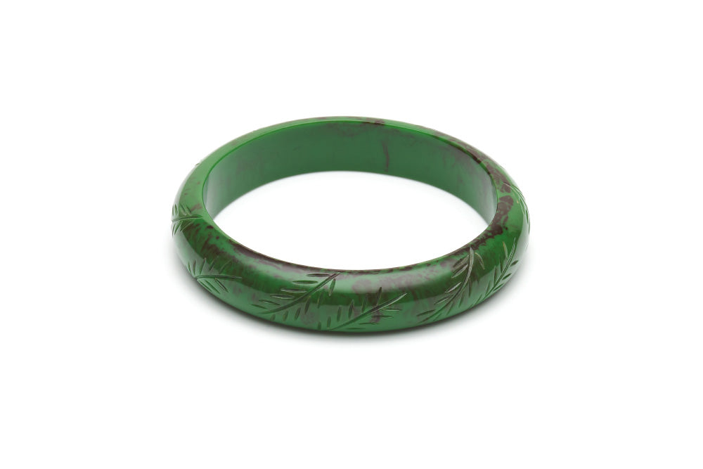 Vintage style midi duchess bangle in fern