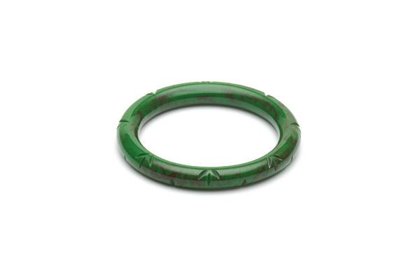 Vintage style narrow maiden bangle in fern
