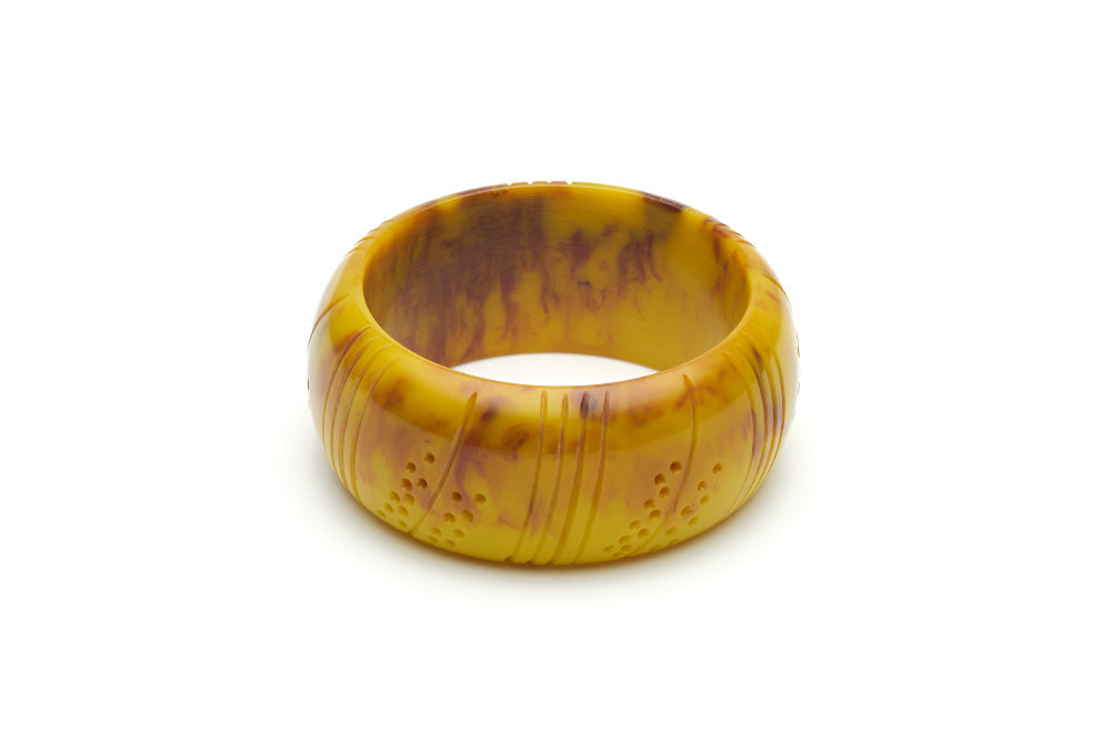 Handmade style wide maiden bangle in catkin