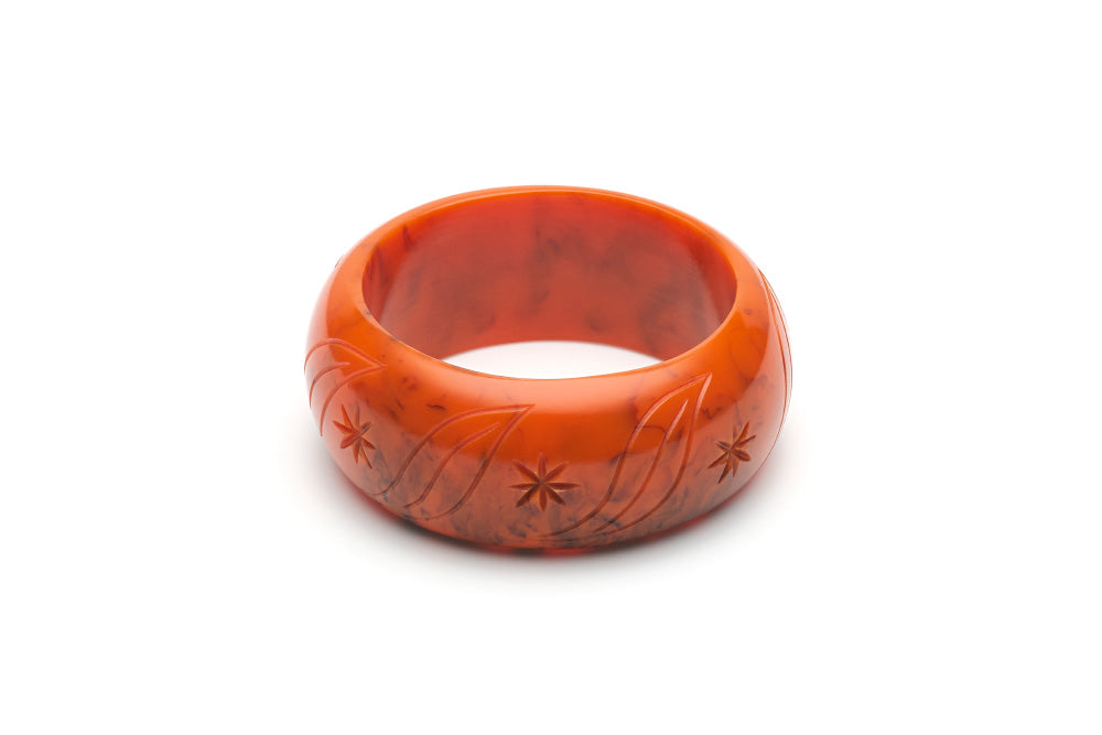 1940s style wide maiden bangle in fox