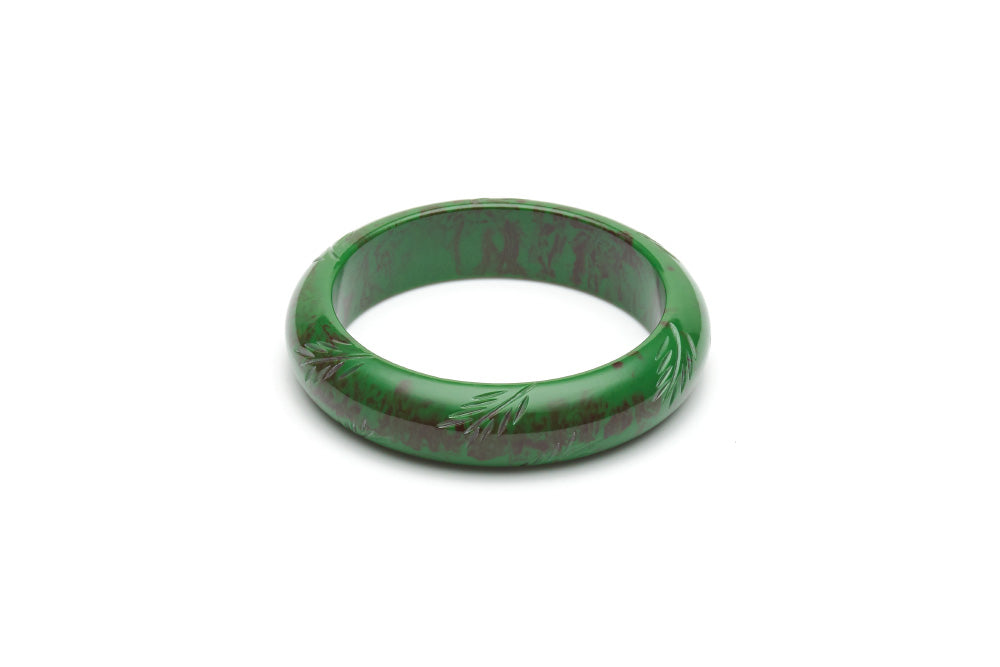 Vintage style midi maiden bangle in fern