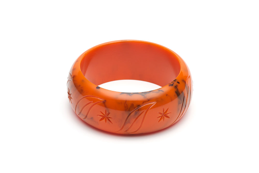 1940s style wide bangle in fox