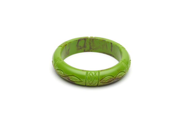 Bakelite style midi maiden bangle in alder green