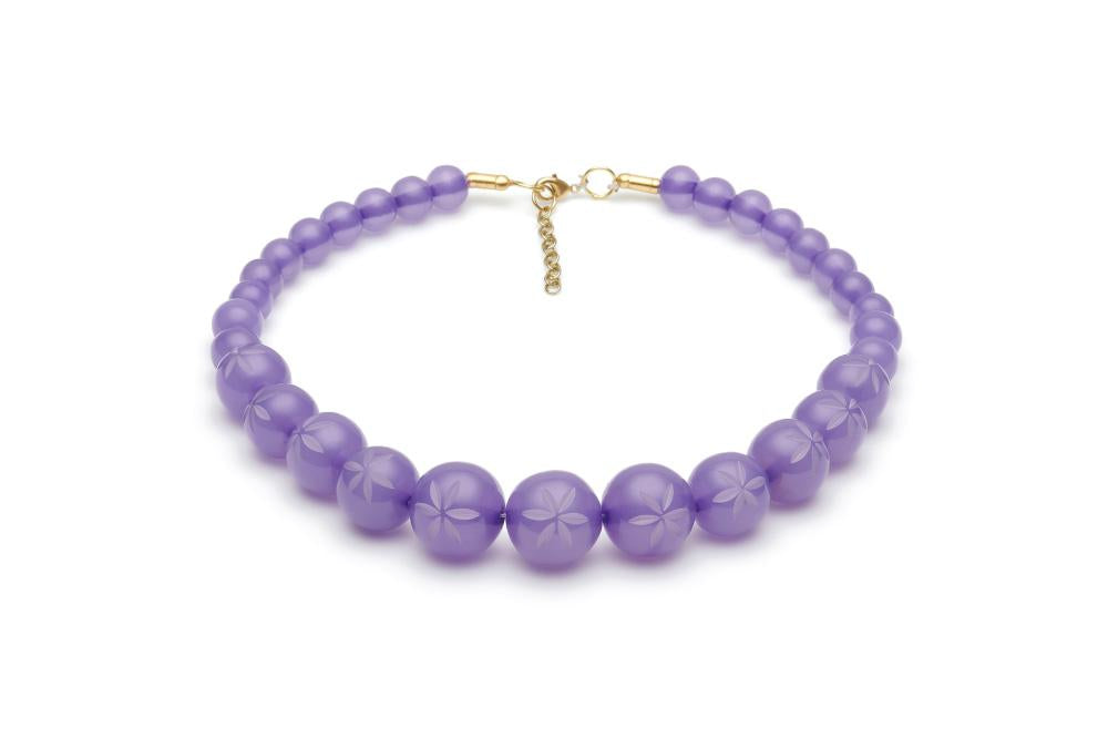 Narrow Parma Violet Fakelite Bangle