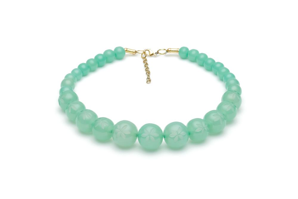Narrow Mint Sorbet Fakelite Bangle