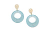 Frosty Fakelite Drop Hoop Earrings