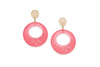 Rose Fakelite Drop Hoop Earrings