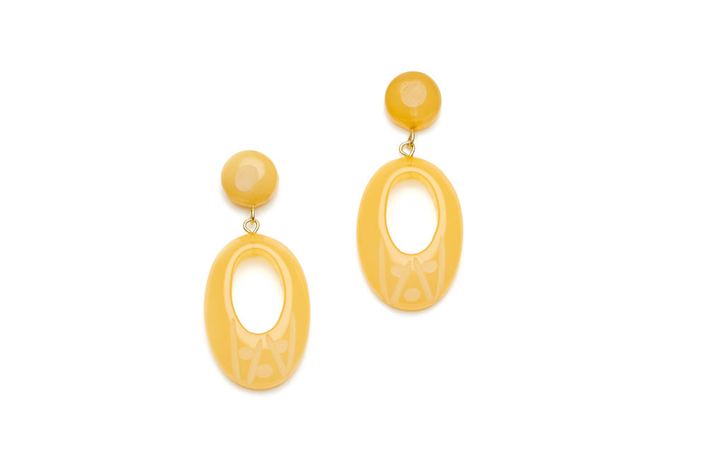 Sherbet Fakelite Drop Hoop Earrings