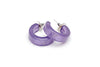 Parma Violet Fakelite Hoop Earrings