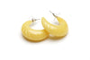 Handmade Lemon Yellow Vintage Style Hoop Earrings