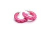 1950s Style Hoop Earrings in Candy Pink