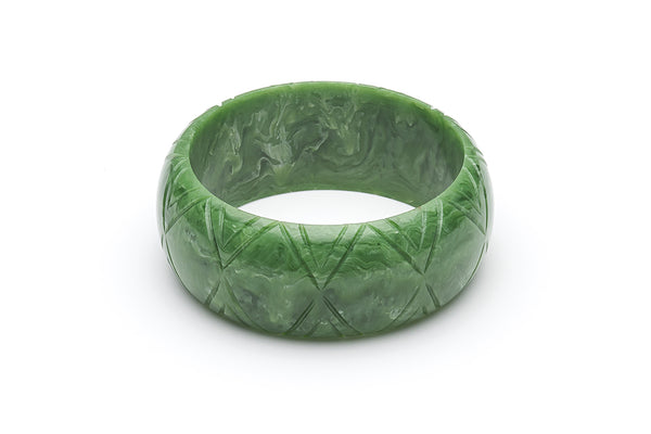 1940s Bakelite Style Larger Sized Green Bangle