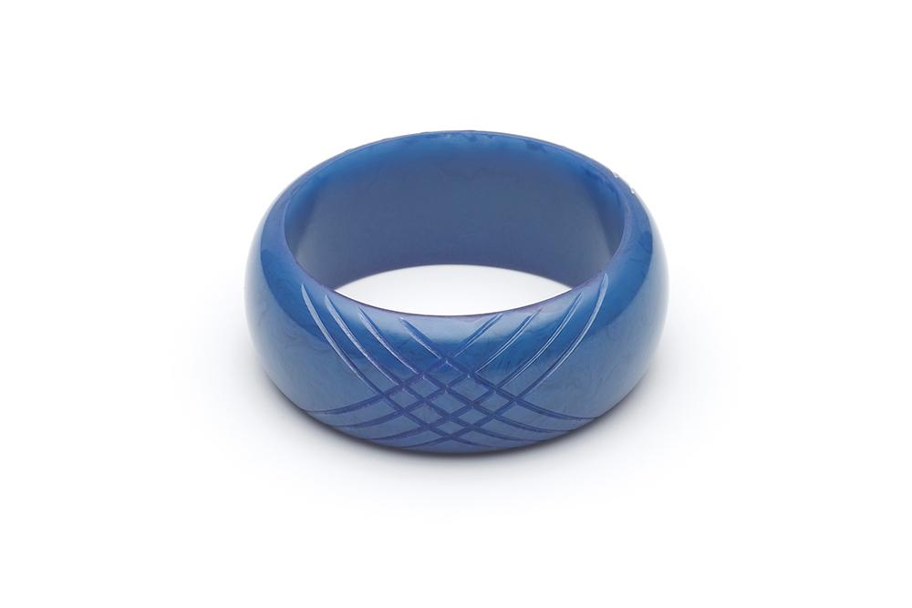 Handmade Bangle in Periwinkle Blue Fakelite