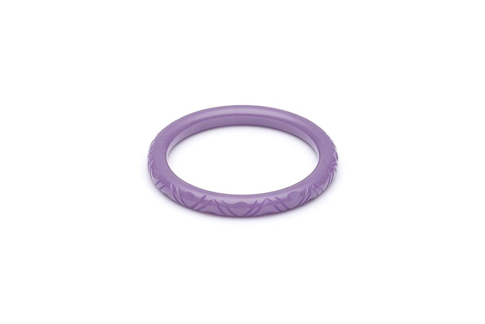 1940s Style Smaller Size Bangle in Amethyst Purple