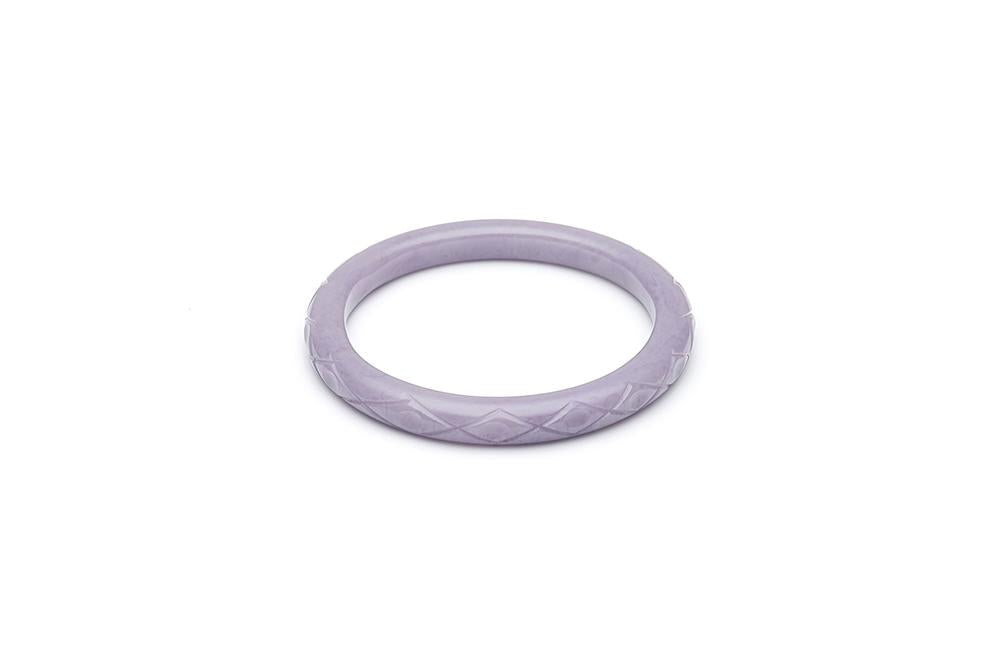 1940s Style Narrow Smaller Size Bangle in Lilac  Fakelite