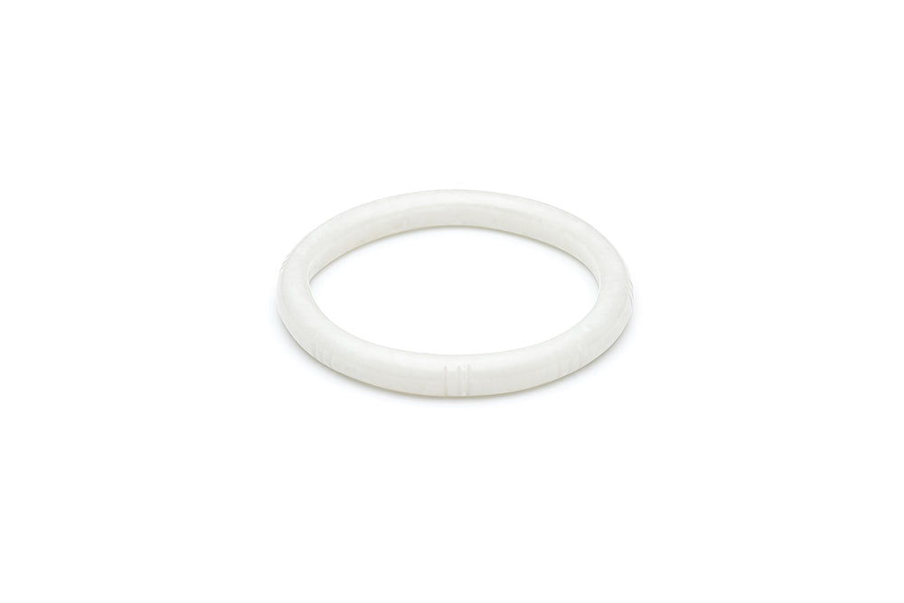Vintage Style Bangle in Cloud Grey Fakelite