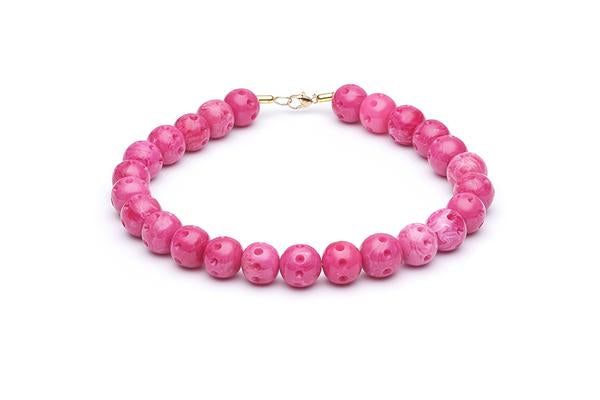 1950s Style Necklace with Candy Pink Beads