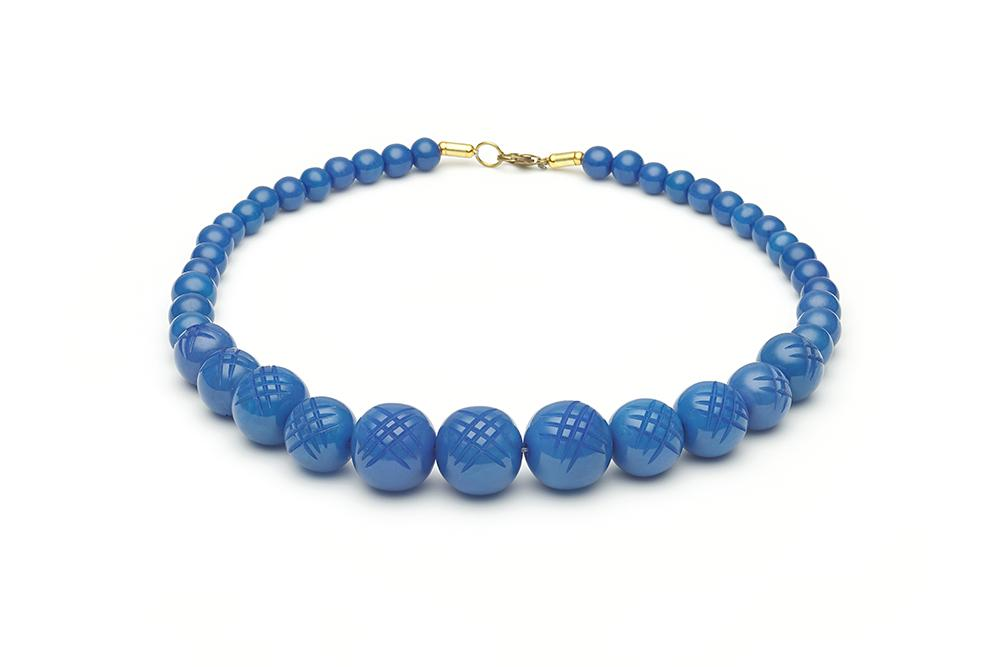 Handmade Bead Necklace in Periwinkle Blue