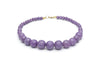 1940s Style Bead Necklace in Amethyst Purple Fakelite