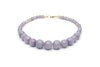 1940s Style Bead Necklace in Lilac Fakelite