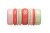 1950s Style Bangle Stack in Peach and Green Fakelite