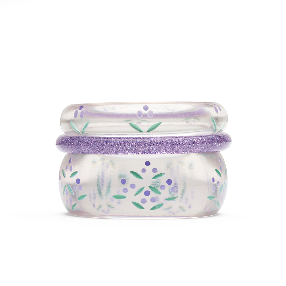 Narrow Lilac Glitter Bangle