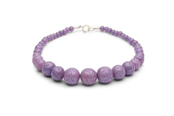 Carved Wisteria Fakelite Beads
