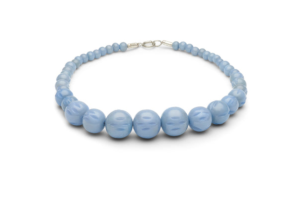 Carved Bluebell Fakelite Beads