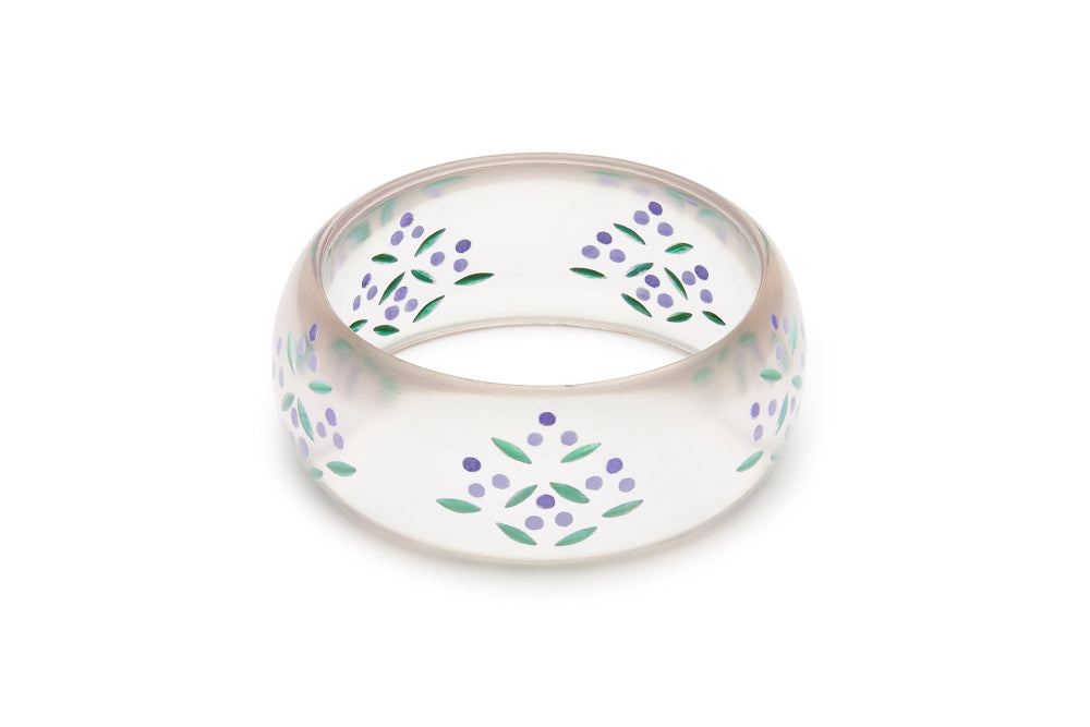 Wide Wisteria Reverse Carved Bangle