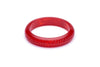 Midi Poppy Red Fakelite Bangle