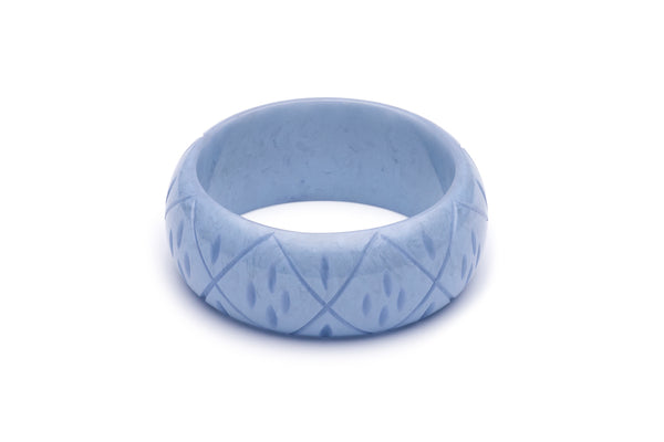 Wide Bluebell Fakelite Bangle