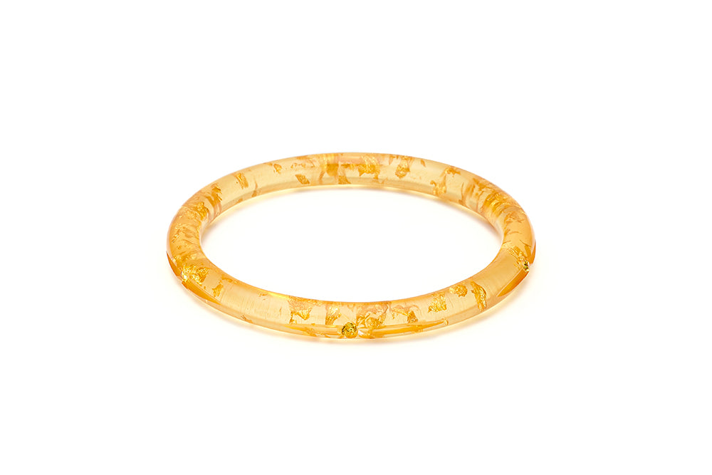 Narrow Gold Foil Starburst Duchess Bangle