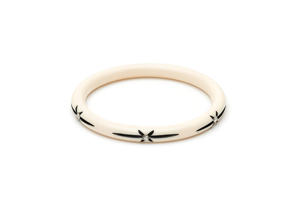 Narrow Ivory Starburst Duchess Bangle