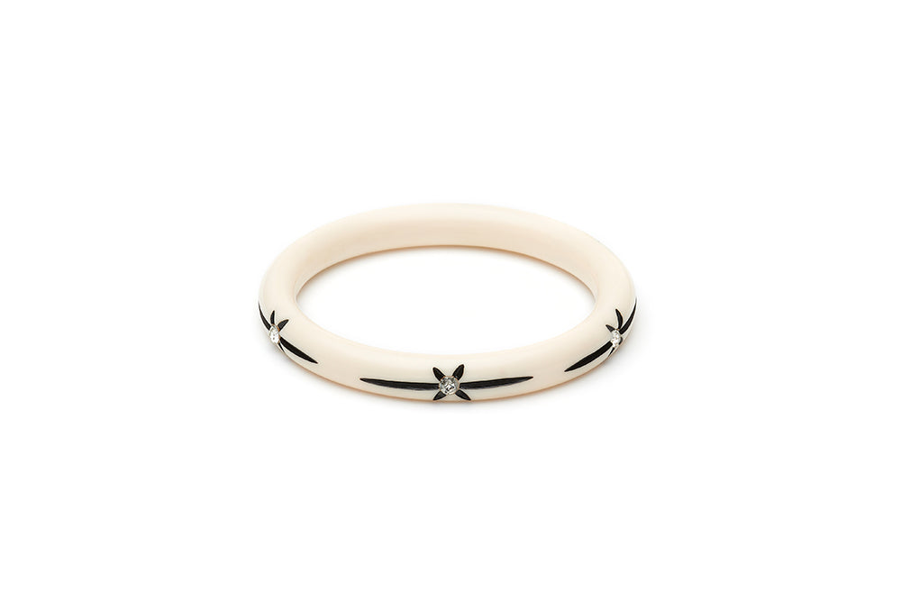 Narrow Ivory Starburst Maiden Bangle