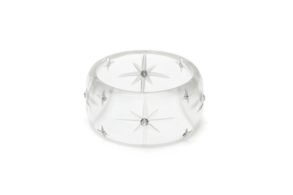 Extra Wide Clear Starburst Maiden Bangle